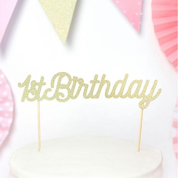 Cake topper anniversaire 1 an