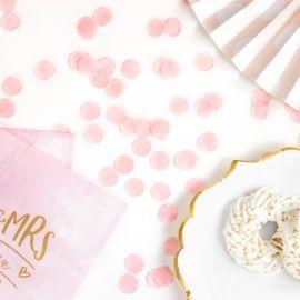 Confettis rose pâle
