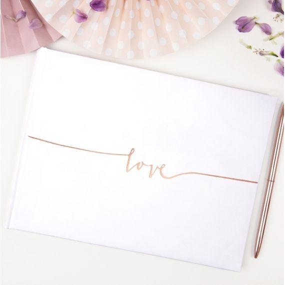Livre d'or rose gold love