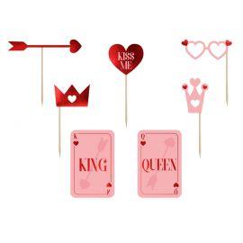 Accessoires photobooth King et Queen