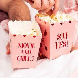Cornets popcorn coeur