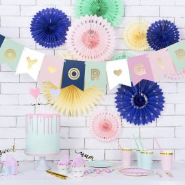 Guirlande gender reveal party - boy or girl