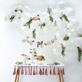 Arche de ballons en kit - Blanc