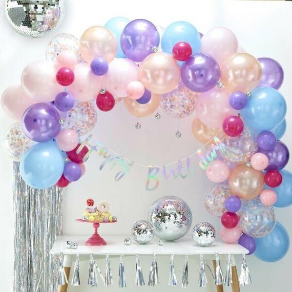 Guirlande de ballons en kit - Pastel Iridescent