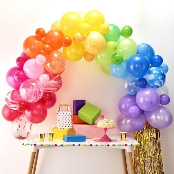 Arche de ballons en kit - Arc en ciel - Modern Confetti