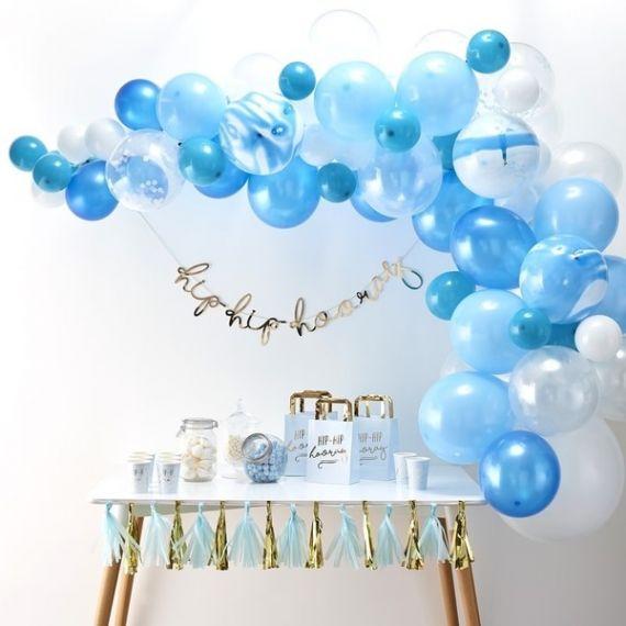 Guirlande de ballons en kit - Bleu