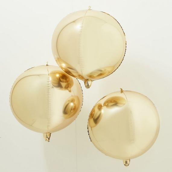 Ballons géants or métallisés (par 3)