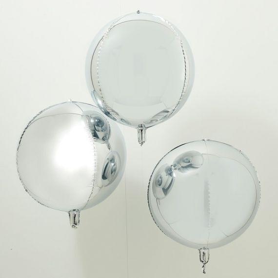 Ballons géant argent (par 3)