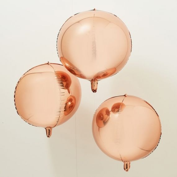Ballons géants rose gold mylar (par 3)