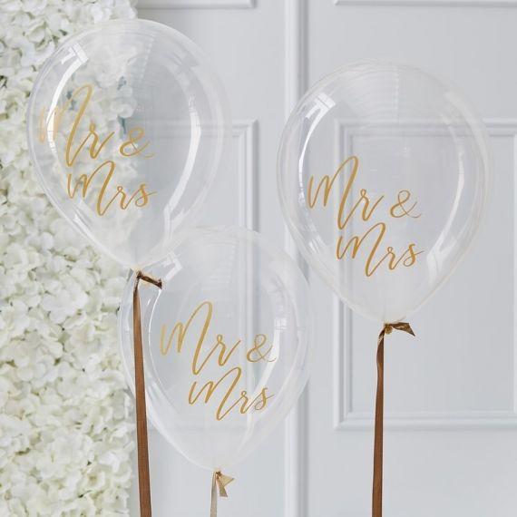 Ballons Mr Mrs (par 5)