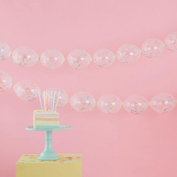 Guirlande de ballons confettis