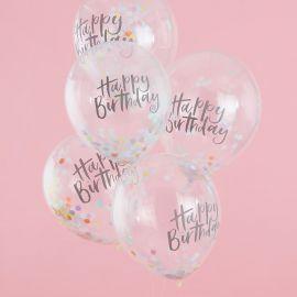 Ballons d'anniversaire pastel (par 5)