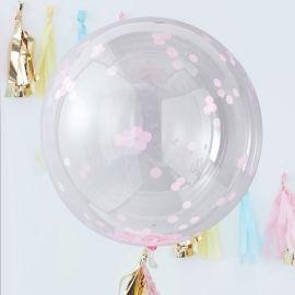 Ballons confettis géant rose (par 3) - 90 cm