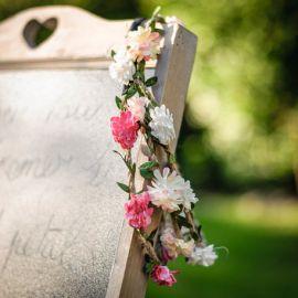Headband fleurs accessoires cheveux mariage EVJF