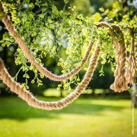 Feuilles eucalyptus artificielles en guirlande
