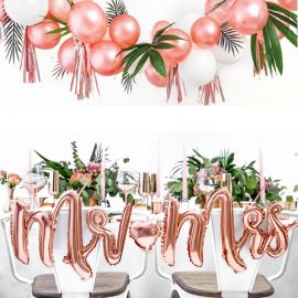 Ballons Mr & Mrs rose gold