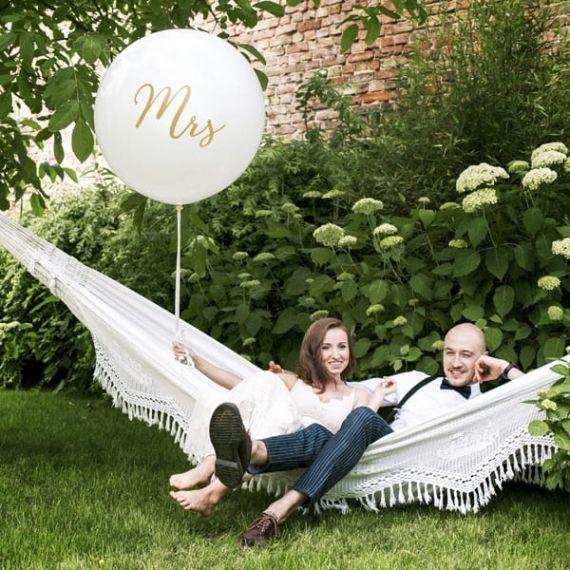 Ballon géant MRS - blanc et or