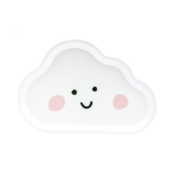Petites assiettes nuage (par 6)