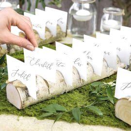 Rondin de bois plan de table mariage
