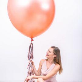 Ballon géant rose gold métallisé - 1m