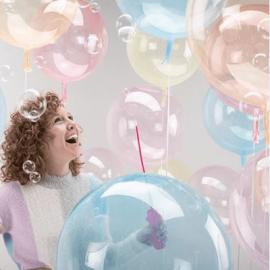 Ballon bulle transparent - pastel - 45 cm