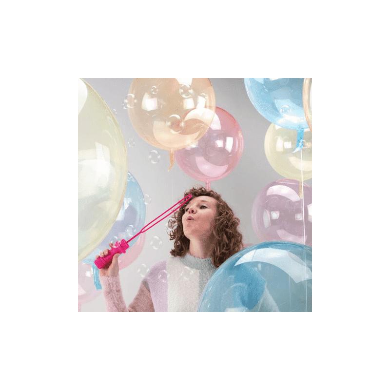 Ballon bulle transparent 45 cm modern confetti - Decoration de grand vase transparent ...