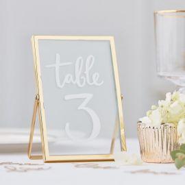 Cadre verre numero table mariage, menu mariage