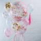 Ballons confettis pastel