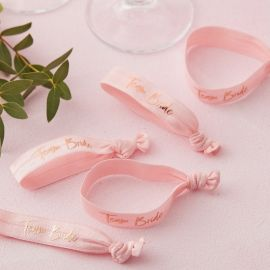 Bracelets EVJF Team bride - or rose