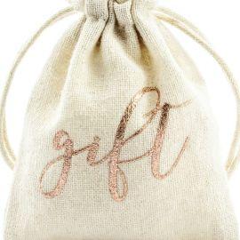 Pochettes cadeaux invités - rose gold