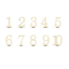 Numéros de table en bois (par 10)