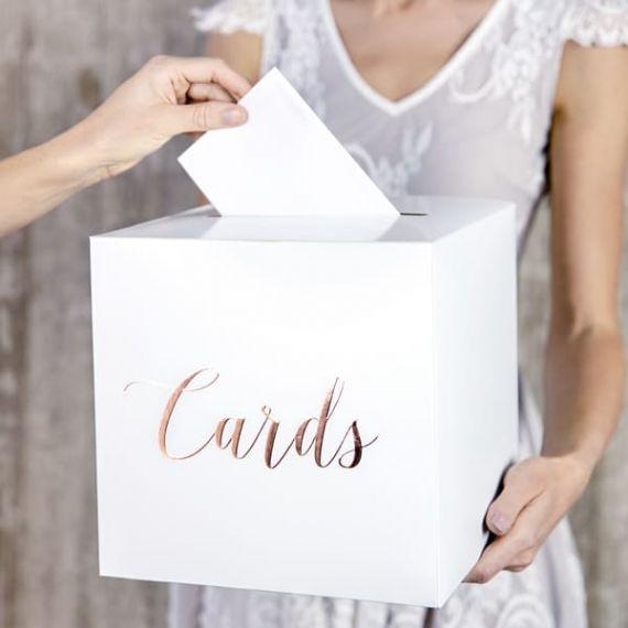 Urne mariage rose gold et blanc