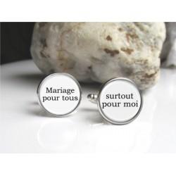 Boutons de manchettes - mariage pour tous