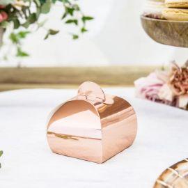 Boîtes cadeaux invités - rose gold (par 10)