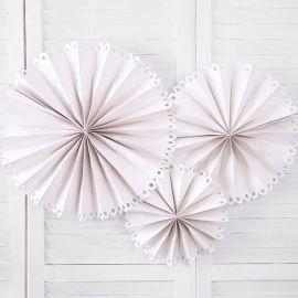 Rosaces blanches effet dentelle x3
