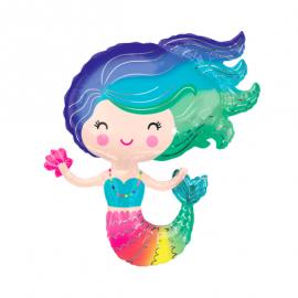 Ballon sirène - multicolores