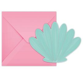 Cartes invitations coquillages