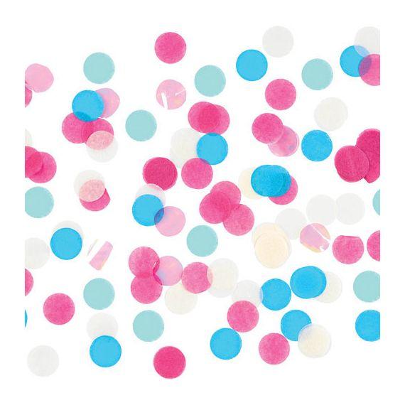 Confettis colorés et irisés