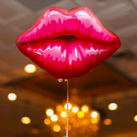 Ballon bouche rouge