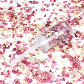 Confettis de fleurs push pop - rose