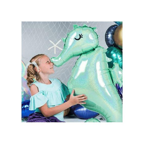 Ballon géant hippocampe - holographique