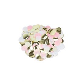 Confettis rose blanc or