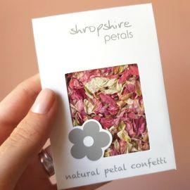 Confettis de fleurs biodégradables - Rose