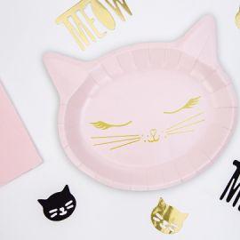 Assiettes anniversaire chat