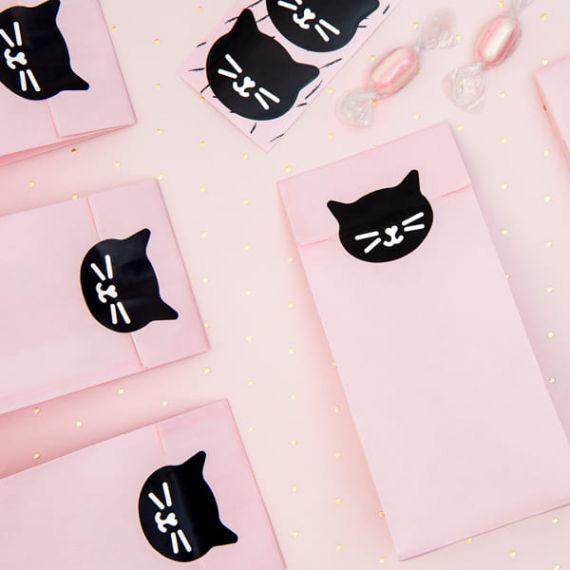 Pochettes anniversaire chat