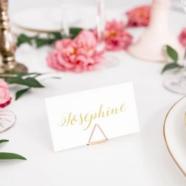 Marque places rose gold - triangle x10
