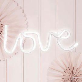 Lampe néon Love - blanc
