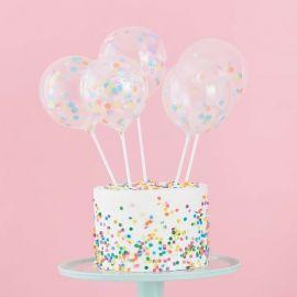 Cake topper ballons confettis