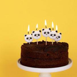 Bougies d'anniversaire mini pandas