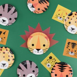 Assiettes anniversaire Jungle x8